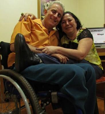 Foto atual de Gil e Telma (por Shirley Pacelli / EM).