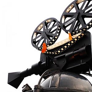 Imagem de um projetor de filmes.