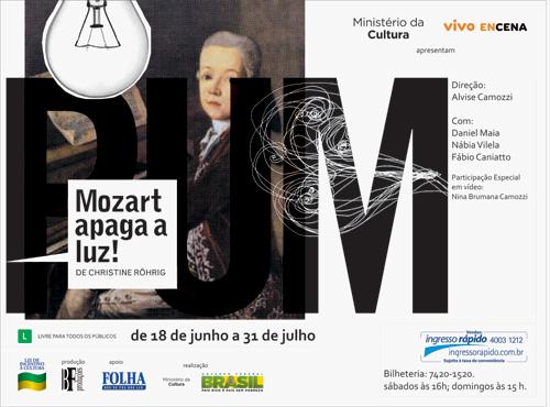 Convite: Mozart, apaga a luz!