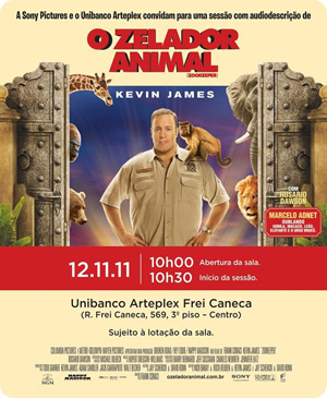 Imagem do cartaz do filme O Zelador Animal.