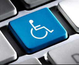 Tecla com símbolo internacional de acessibilidade.